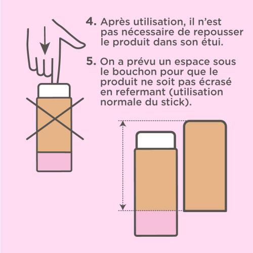 Déodorant Stick Solide Litchi Rose